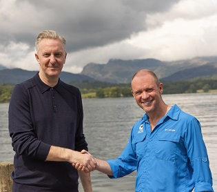Tony Walsh and LDNP Chief Exec, Richard Leafe at Brockhole on Windermere