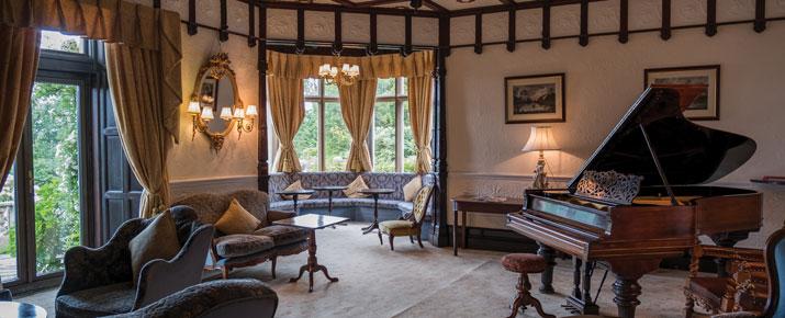 Elegant living room in the Langdale Chase hotel