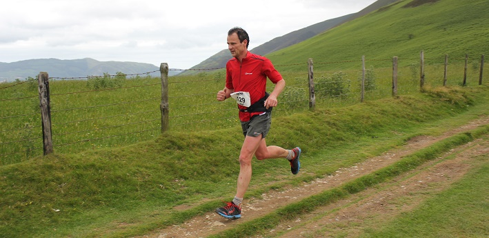 Steve Birkinshaw running in Skiddaw.