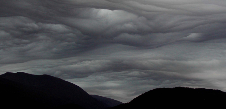 Stormy cloudscape copyright Cumbria Soaring Club - Chris Scammell