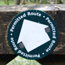 White arrow permissive path waymarker