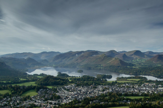 Beautiful, dramatic landscape over looking Keswick