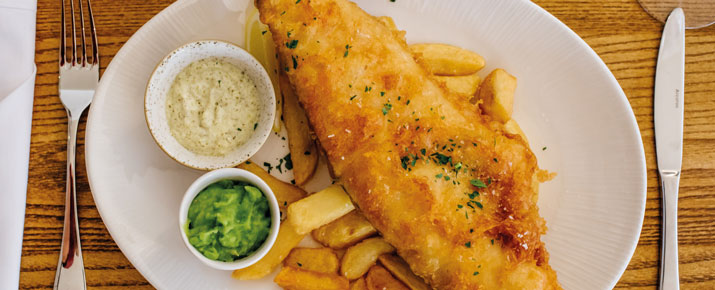 Fish and chips at the Crown Inn
