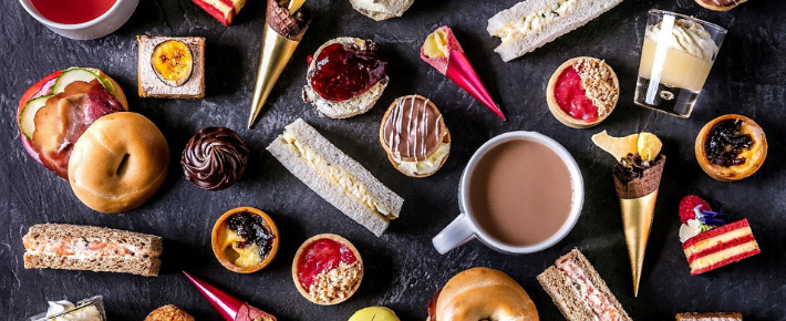 The Daffodil's colourful afternoon tea