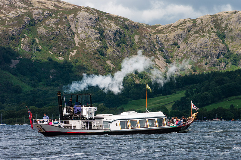 Steam yacht gondola on Coniston Water%