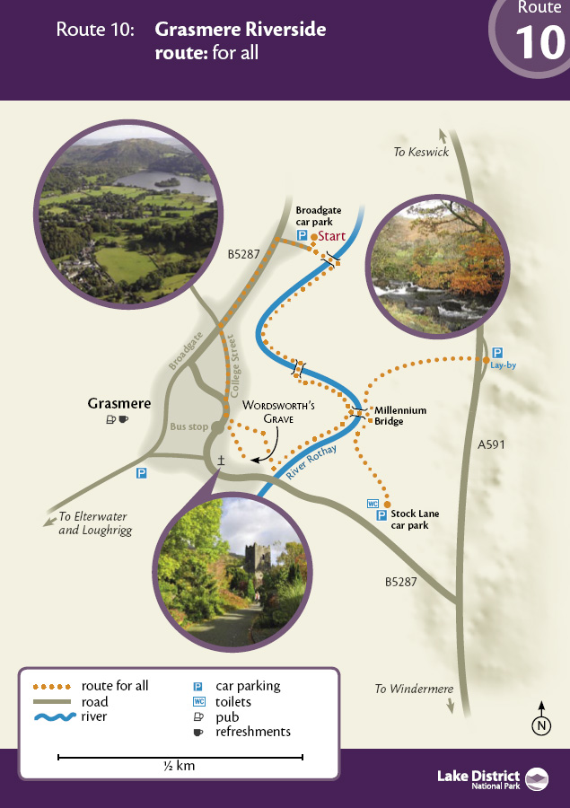 Map - Grasmere Riverside