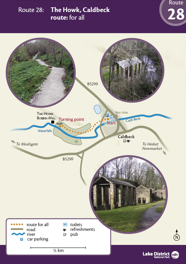 Map - The Howk, Caldbeck route
