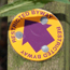 Victoria plum-coloured arrow restricted byway waymarker