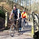 Cyclists on the Keswick to Threlkeld Railway Path