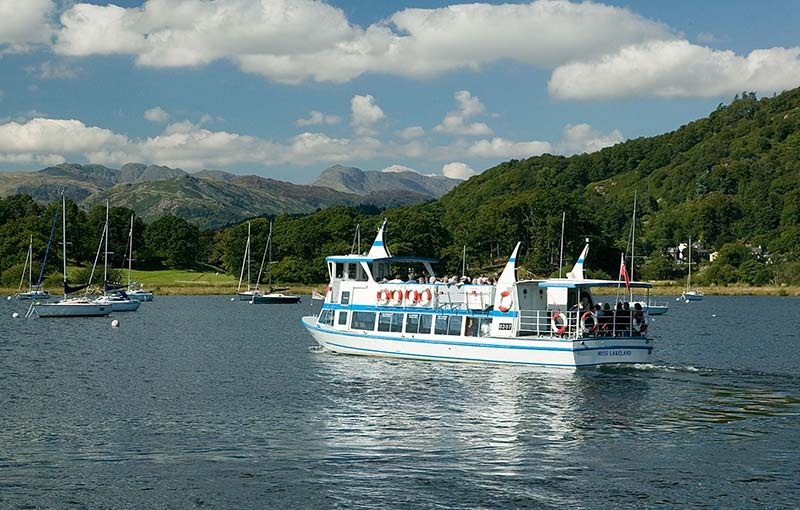 Cruise boat on Windermere