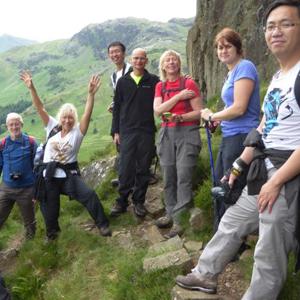 Group of walkers on Lingmoor