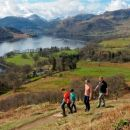 Family walking Ullswater Way