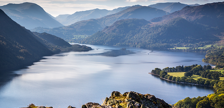 A view looking south over Ullswater