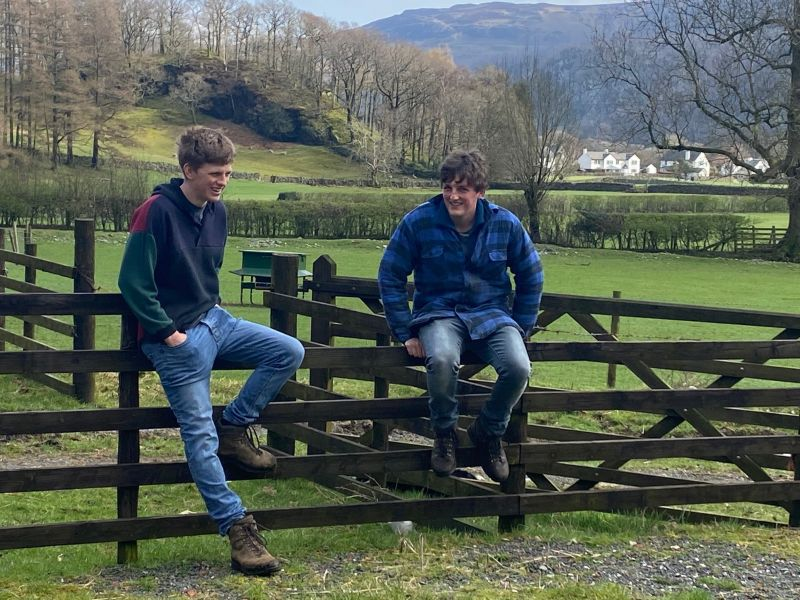 Young farmers in the Lake District