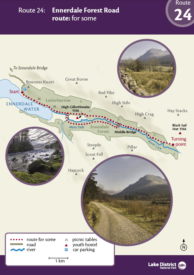 Map - Ennerdale Forest Road route