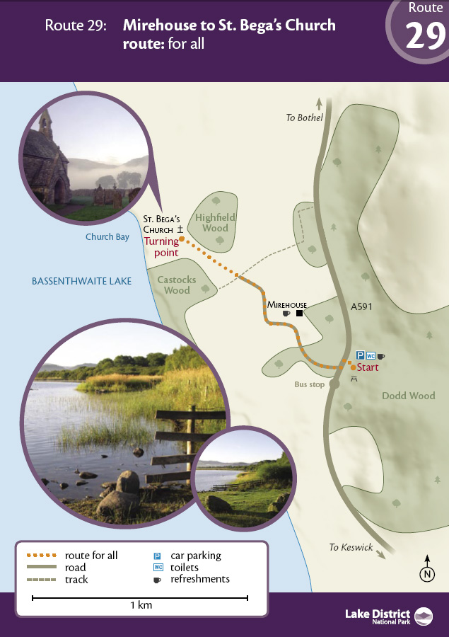 Map - Mirehouse to St Bega's Church route