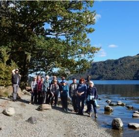 people enjoying a National Park volunteer-led guided walk in beautiful Ullswater