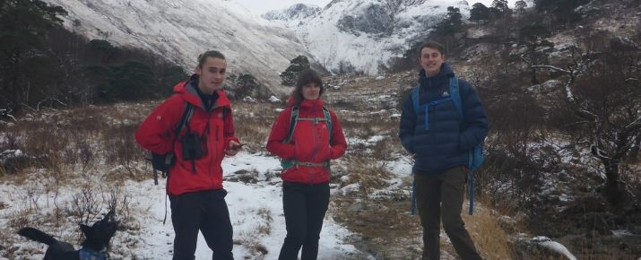 Isaac and colleagues on Glenridding Common