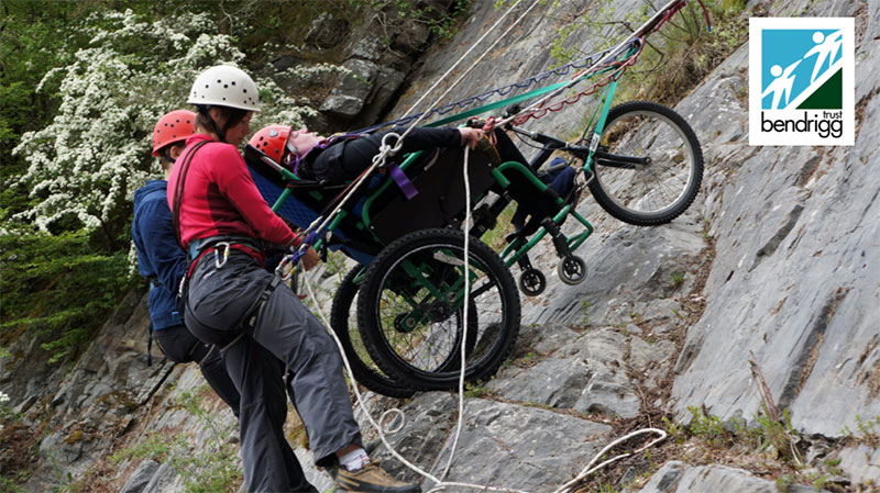 Wheelchair abseiling with the Bendrigg Trust in the Lake District