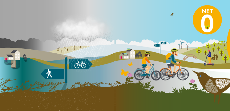 Illustration for climate action and recovery
