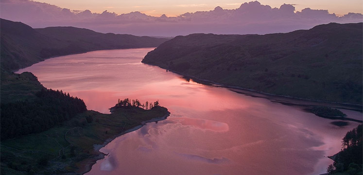 Sunset over Haweswater