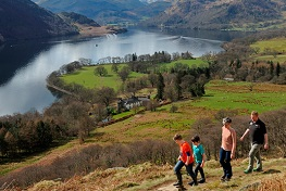 Walkers on the Ullswater Way