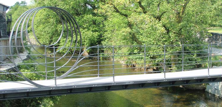 New bridge at Staveley copyright LDNPA