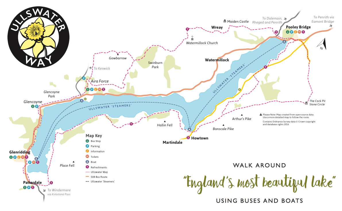 Ullswater Way map