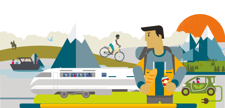 Illustration for smarter sustainable travel