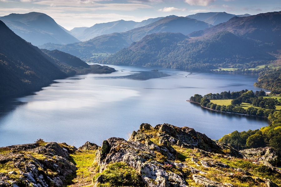 View of Ullswater from Gowbarrow Park, Lake District World Heritage bid