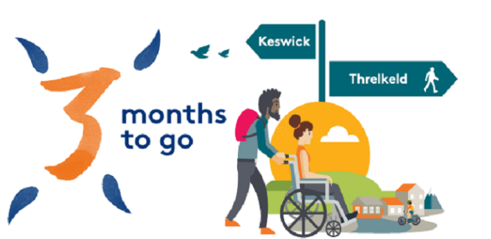 graphic depicting three months to go in Keswick to Threlkeld project
