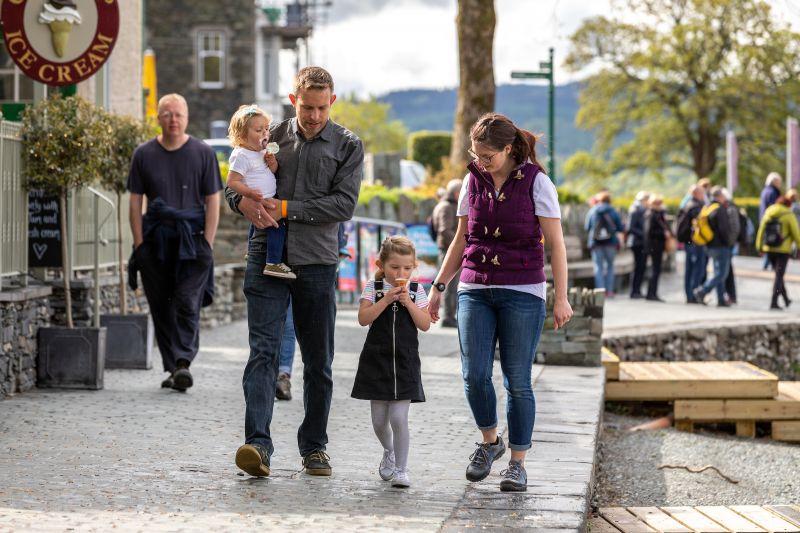 Family at Windermere - Cumbria Tourism