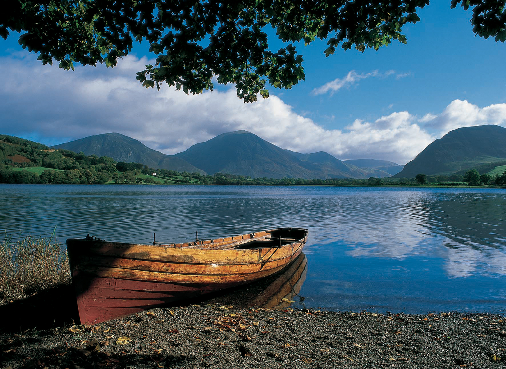 Rowing boat at Loweswater - Val Corbett
