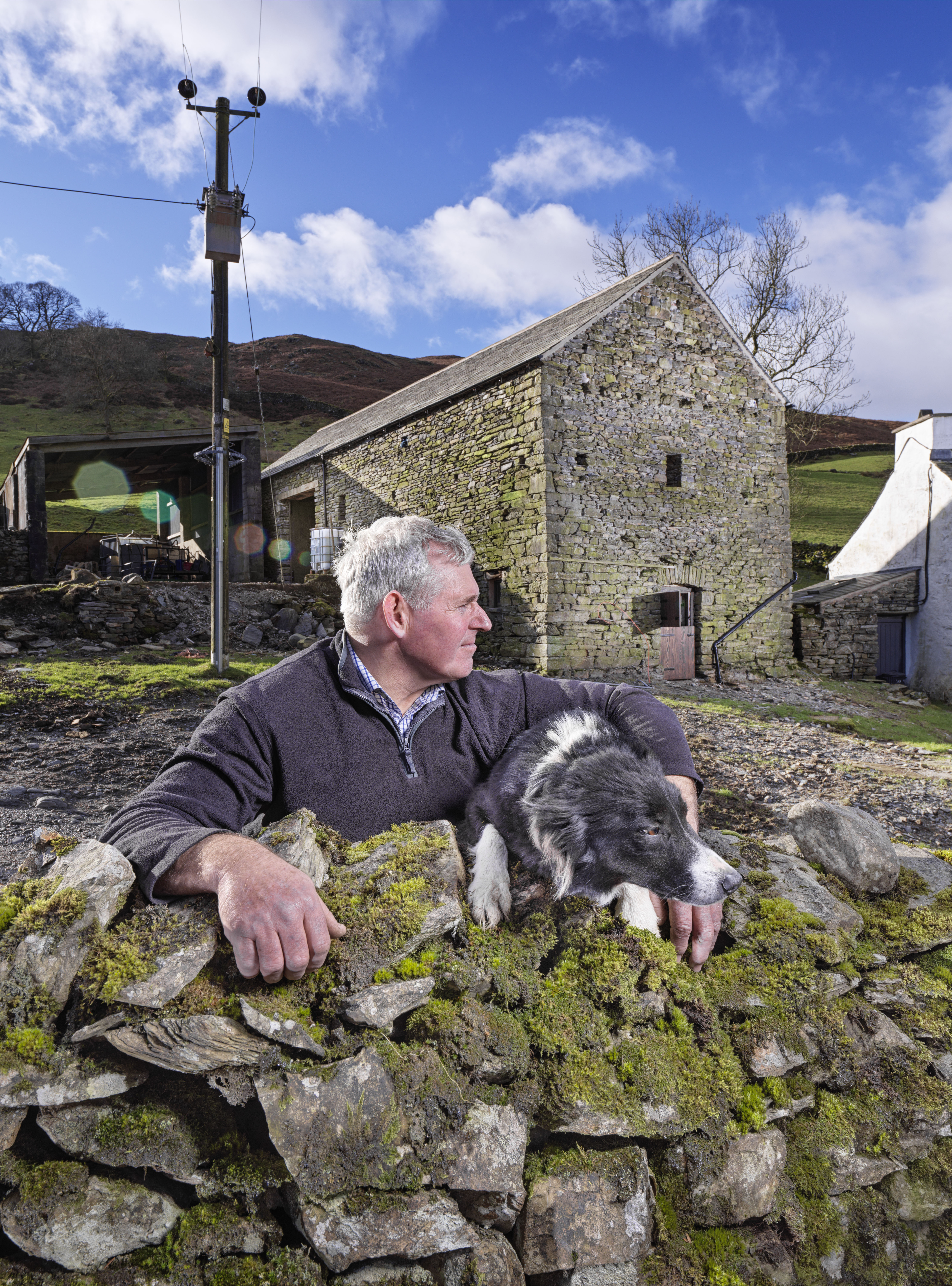 Farmer Andrew Sutton at Bridge End Barn, Longsleddale - James O Davies / Historic England
