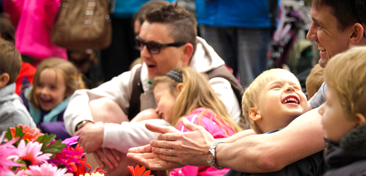 Closeup of crowds having fun at Brockhole - The Lake District Visitor Centre copyright Dave Willis