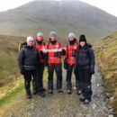 Winter Skills Competition winners with Fell Top Assessors
