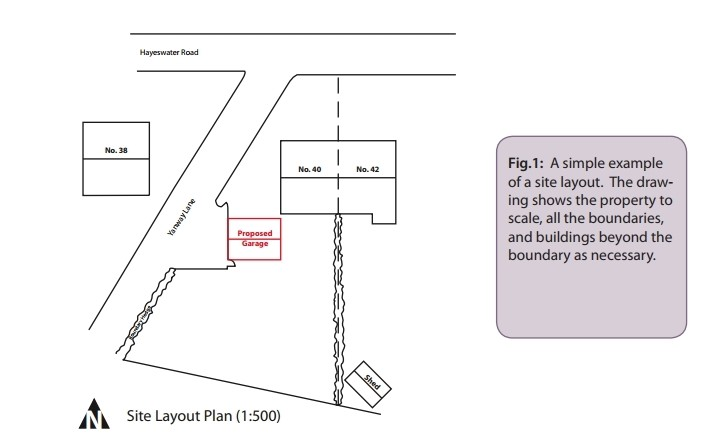 Example site layout plan