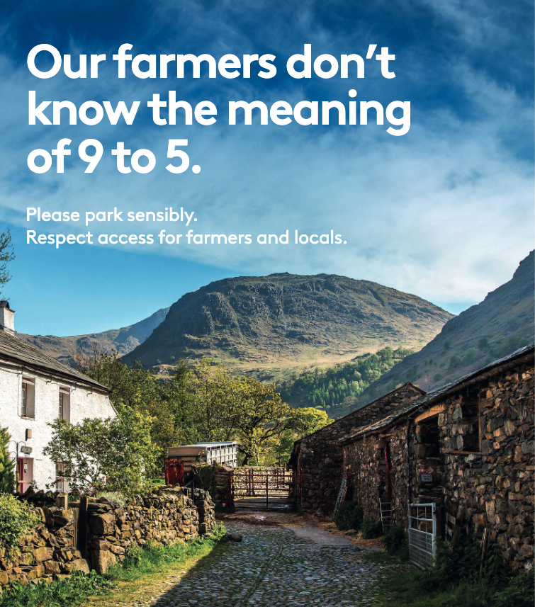 Our farmers don't know the meaning of 9 to 5. Please park sensibly. Respect access for farmers and locals.