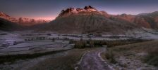 Langdales in the frost at sunset / Harry Johnson Photography @harryfoto_