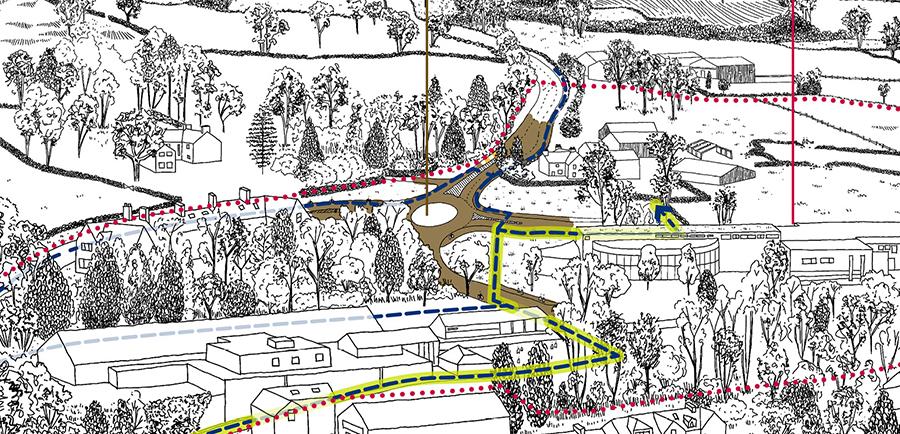 Illustration showing the Thwaites Lane roundabout location