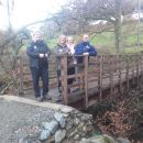 Lake District National Park Area Ranger witH HF Holidays on the rebuilt Ghyll Brow bridge