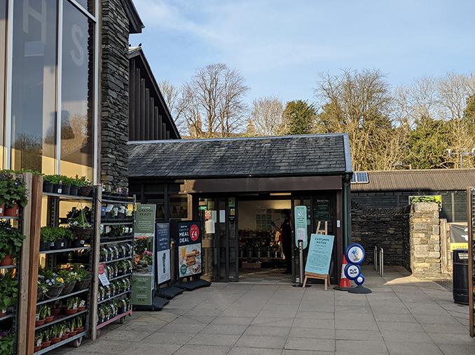 Entrance to a supermarket