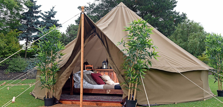 A tepee outside in the Lake District