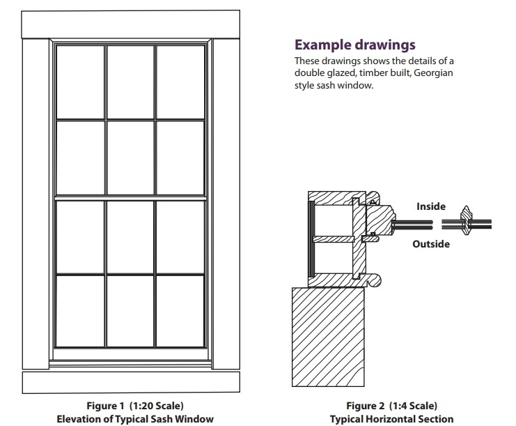 Figures 1 and 2 - Examples of window drawings