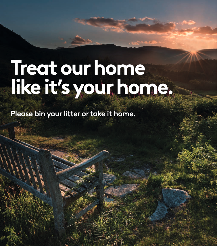 Treat our home like its your home. Please bin your litter or take it home.