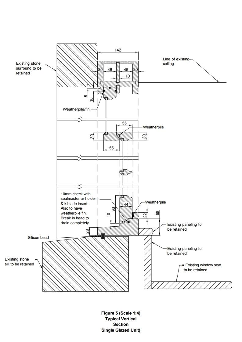 Figure 5 - Example of window drawings
