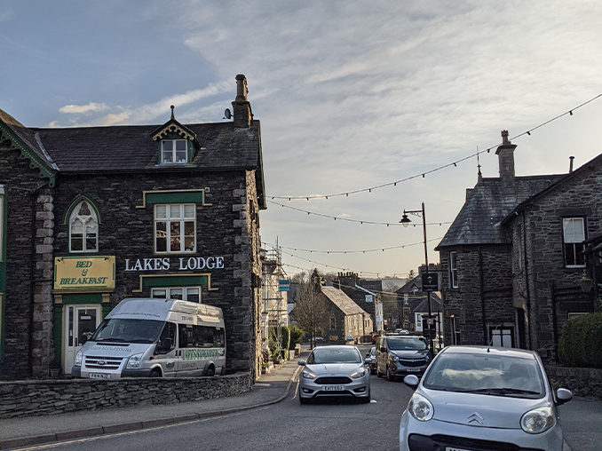 A stone built building on Windermere High Street.