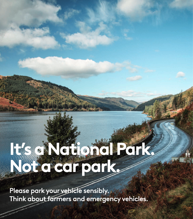 It's a National Park. Not a car park. Please park your vehicle sensibly. Think about farmers and emergency vehicles.