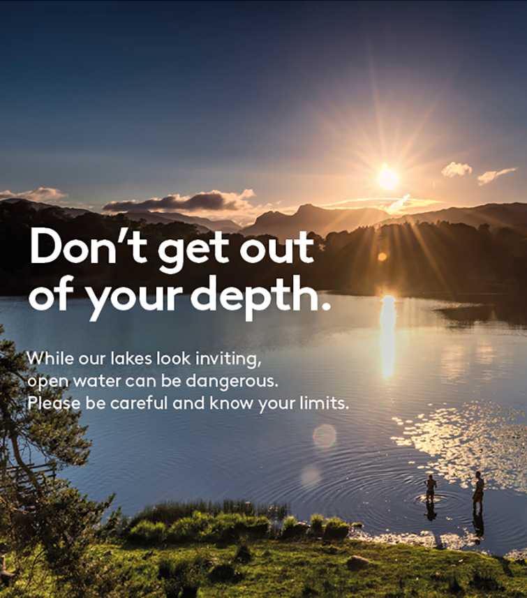 Don't get out of your depth. While our lakes look inviting, open water can be dangerous, please be careful and know your limits.