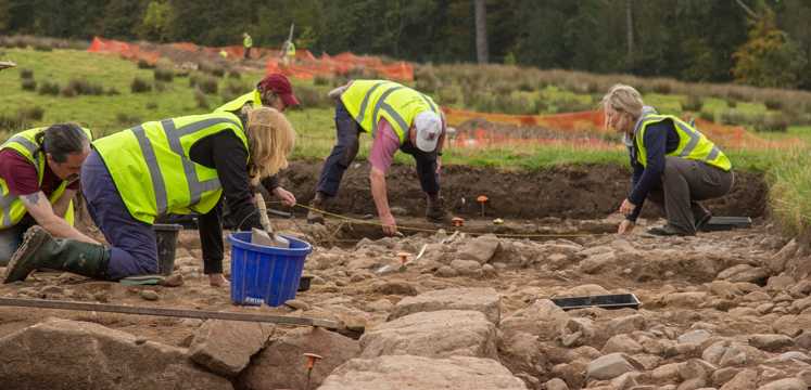 Volunteers working on the Romans in Ravenglass project